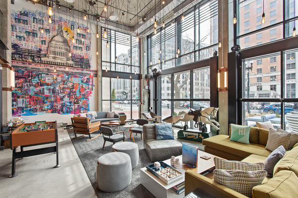 CBG builds Moxy Hotel, a 13-Story LEED® Silver Hotel with Retail in Washington, DC - Image #2
