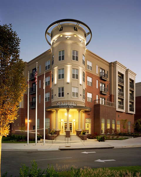 CBG builds Camden College Park, a 508-Unit Luxury Apartment Community with Precast Garage in College Park, MD - Image #1
