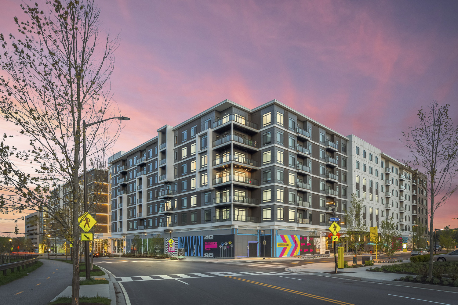 CBG builds Juniper, a 382-Unit Mixed-Use Community with Eight Stories of Above-Grade Parking in Columbia, MD - Image #1
