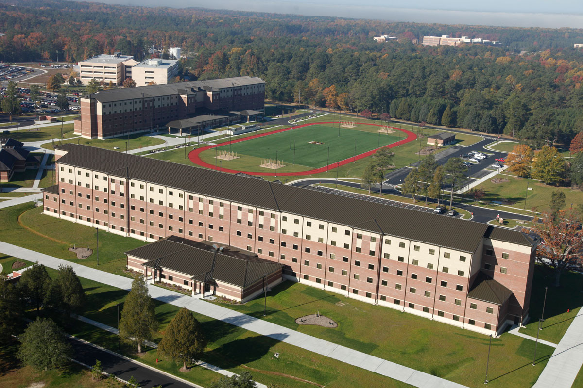 CBG builds Fort Lee AIT Barracks, a 600-Unit Advanced Individual Training Facility and Residential Complex in Fort Lee, VA