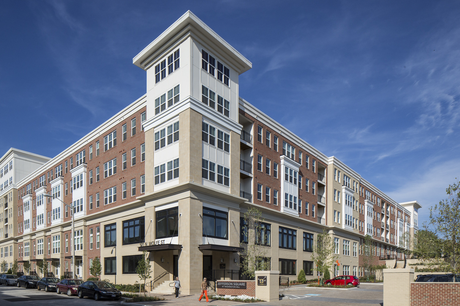 CBG builds Jefferson Square at Washington Hill, a 304-Unit Mixed-Use Apartment Community with Cast-in-Place Parking Garage in Baltimore, MD - Image #1
