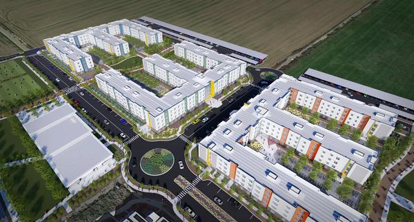 CBG builds UC Davis West Village, a 22-Acre, 3,311-Bed Student Housing Community Across Nine Residential Buildings in Davis, CA - Image #1