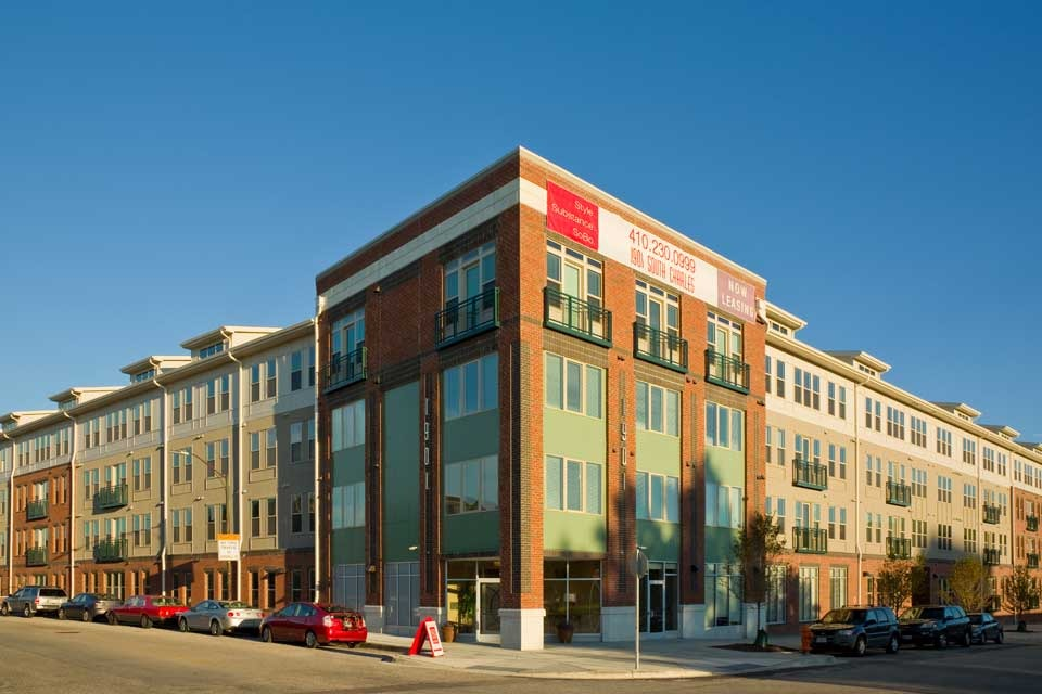 CBG builds 1901 South Charles Street, a 193-Unit Apartment Community with Attached Precast Garage in Baltimore, MD