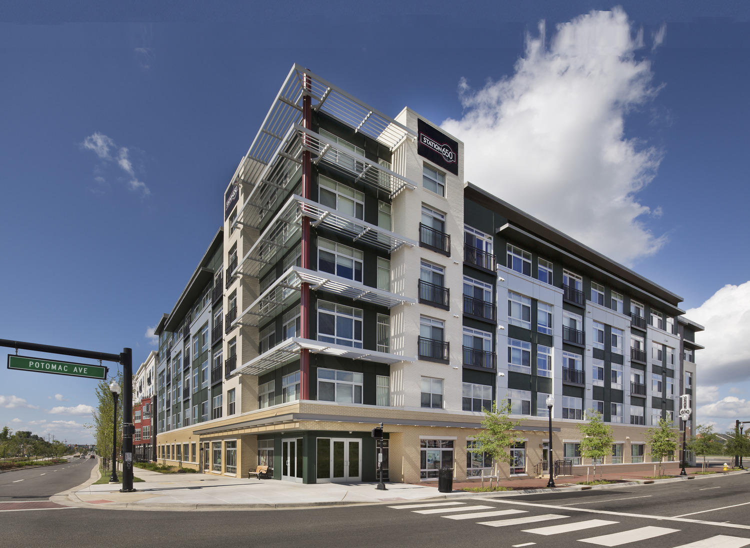CBG builds Station 650, a 183-Unit Mixed-Use Apartment Building with Below-Grade Parking in Alexandria, VA - Image #1