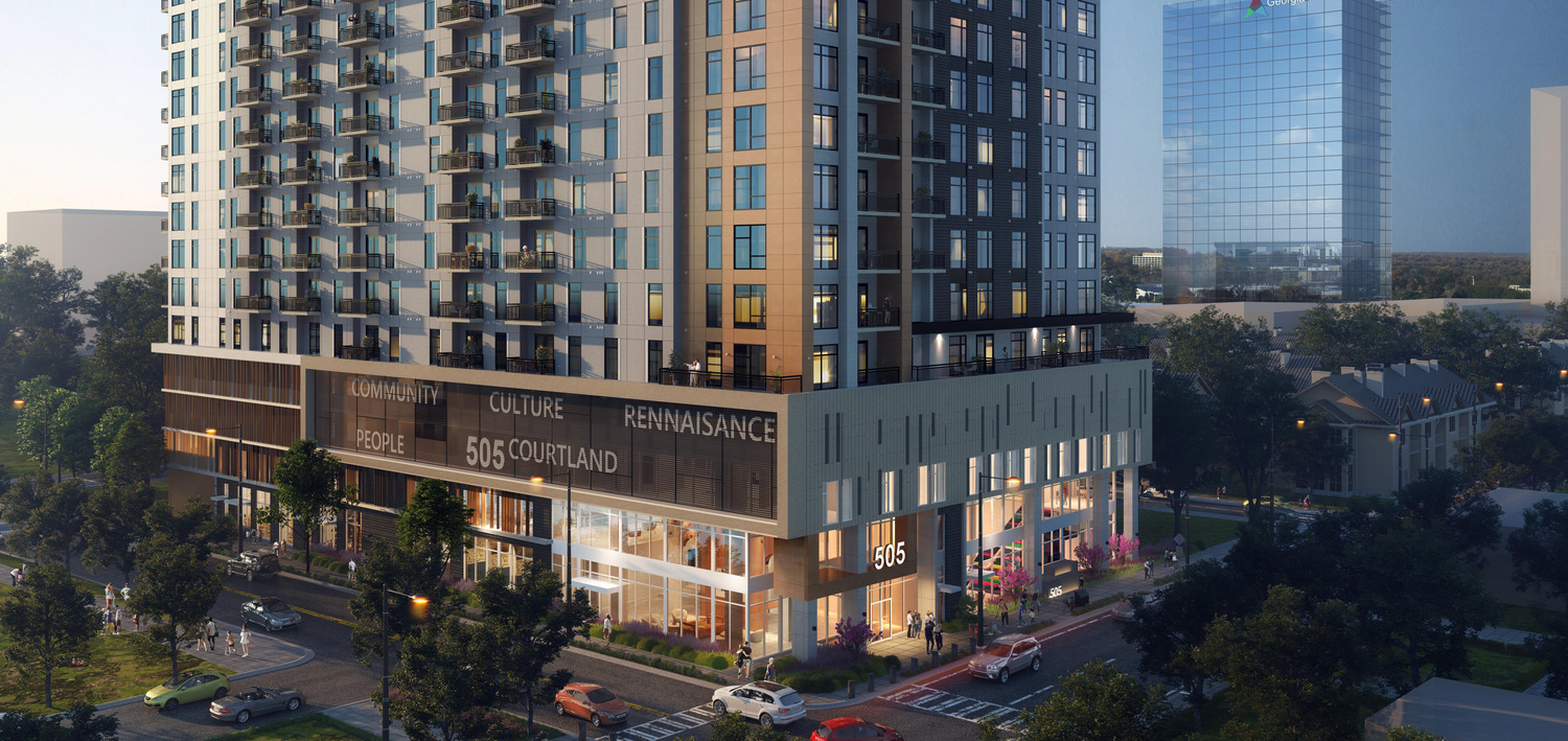 CBG builds 505 Courtland, a 284-Unit Luxury, 17-Story Community with Amenities and Parking in Atlanta, GA - Image #1