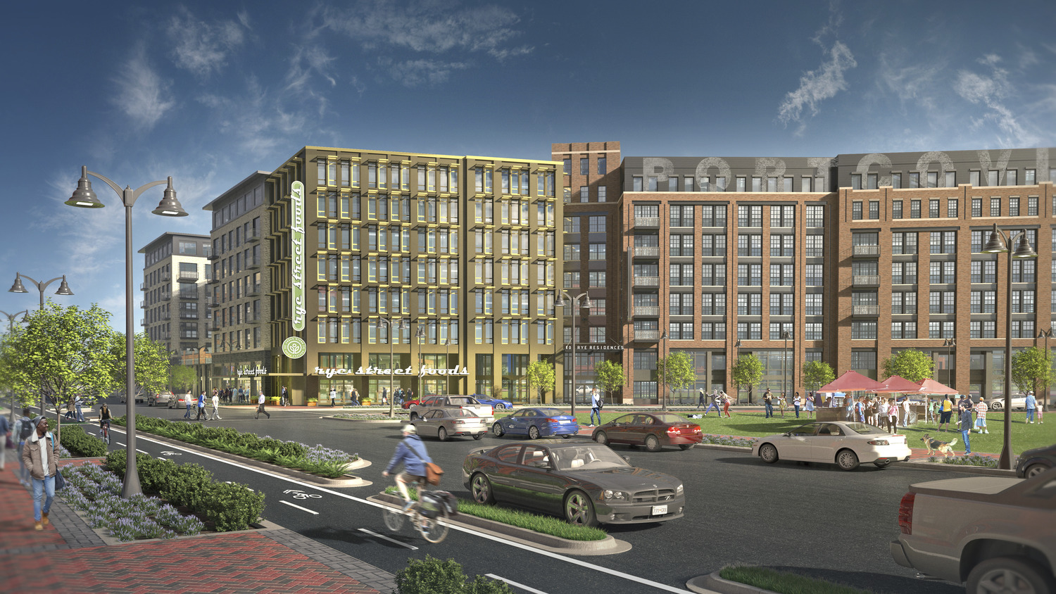 CBG builds Port Covington E1, a NGBS-Gold, 162-Unit Mixed-Use High-Rise with Precast Garage in Baltimore, MD