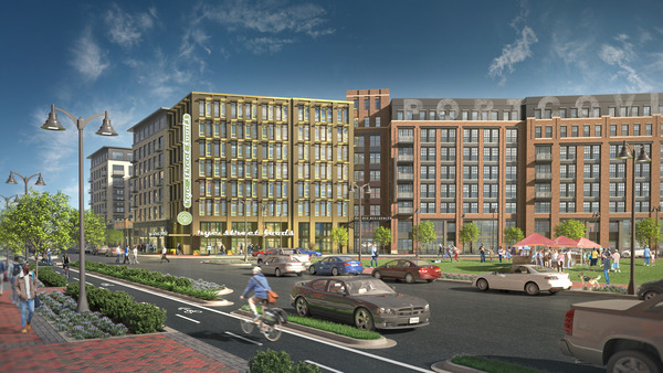 CBG builds Port Covington E1, a NGBS-Gold, 162-Unit Mixed-Use High-Rise with Precast Garage in Baltimore, MD - Image #1