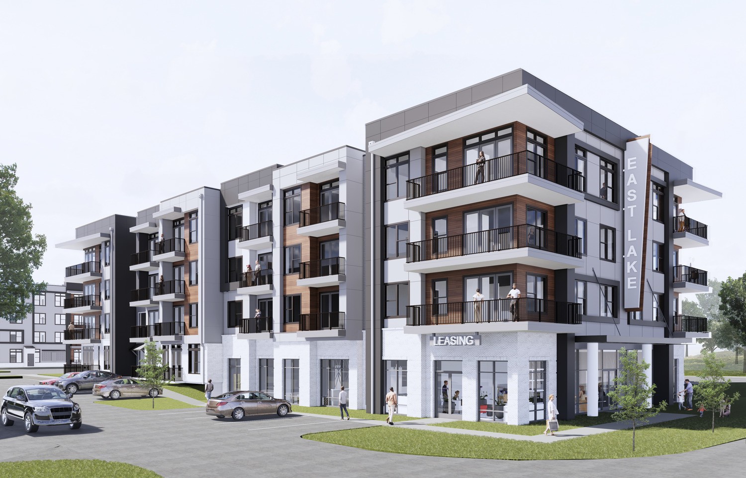 CBG builds East Lake, a 230-Unit, Four-Building Mixed-Use Community with Office Space and Amenities in Atlanta, GA