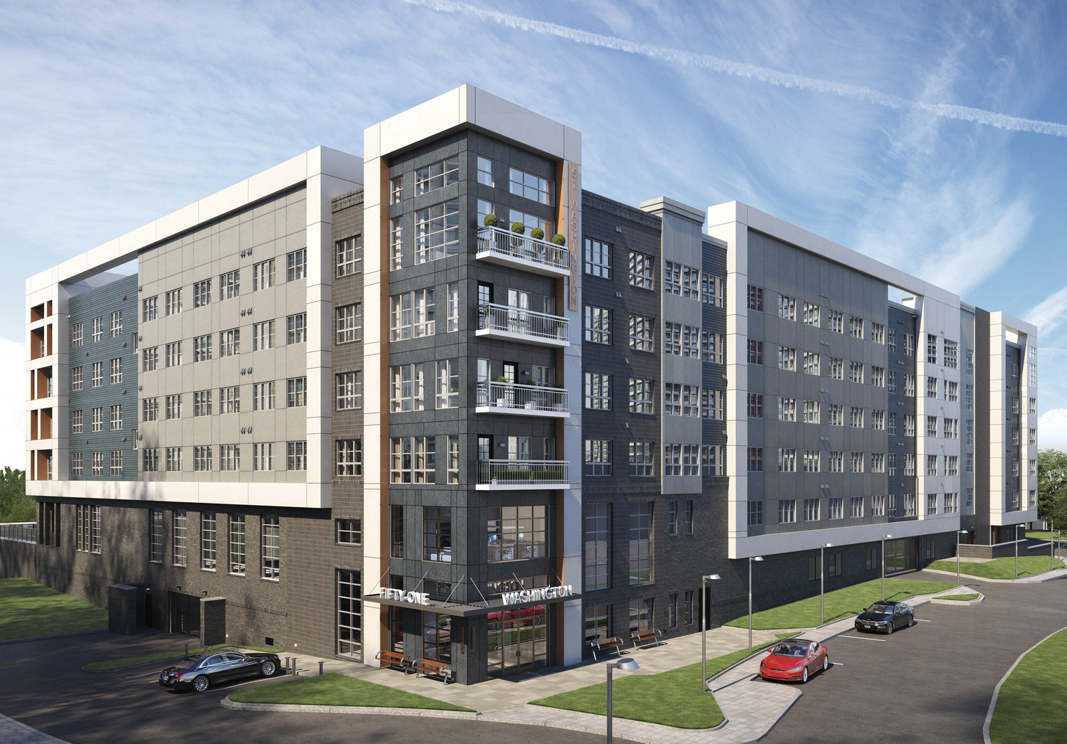 CBG builds 51 Washington, a 304-Unit, Five-Story Luxury Community with Pool and Cast-In-Place Garage in Conshohocken, PA