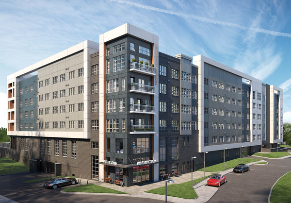 CBG builds 51 Washington, a 304-Unit, Five-Story Luxury Community with Pool and Cast-In-Place Garage in Conshohocken, PA - Image #1