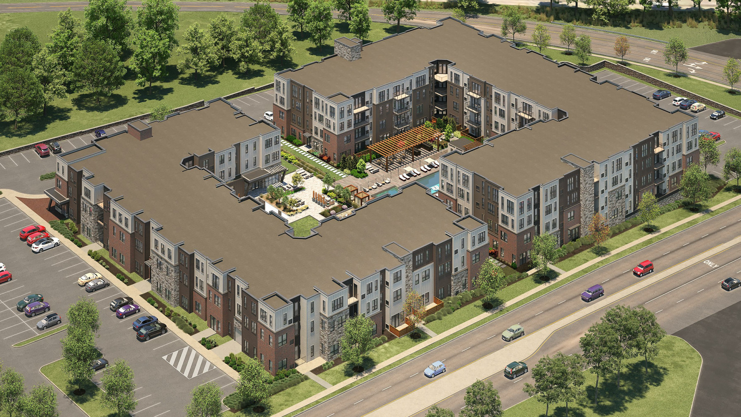 CBG builds UDR Valley Forge, a 200-Unit Luxury Apartment Community Across Two Buildings with Amenities and Parking in King of Prussia, PA
