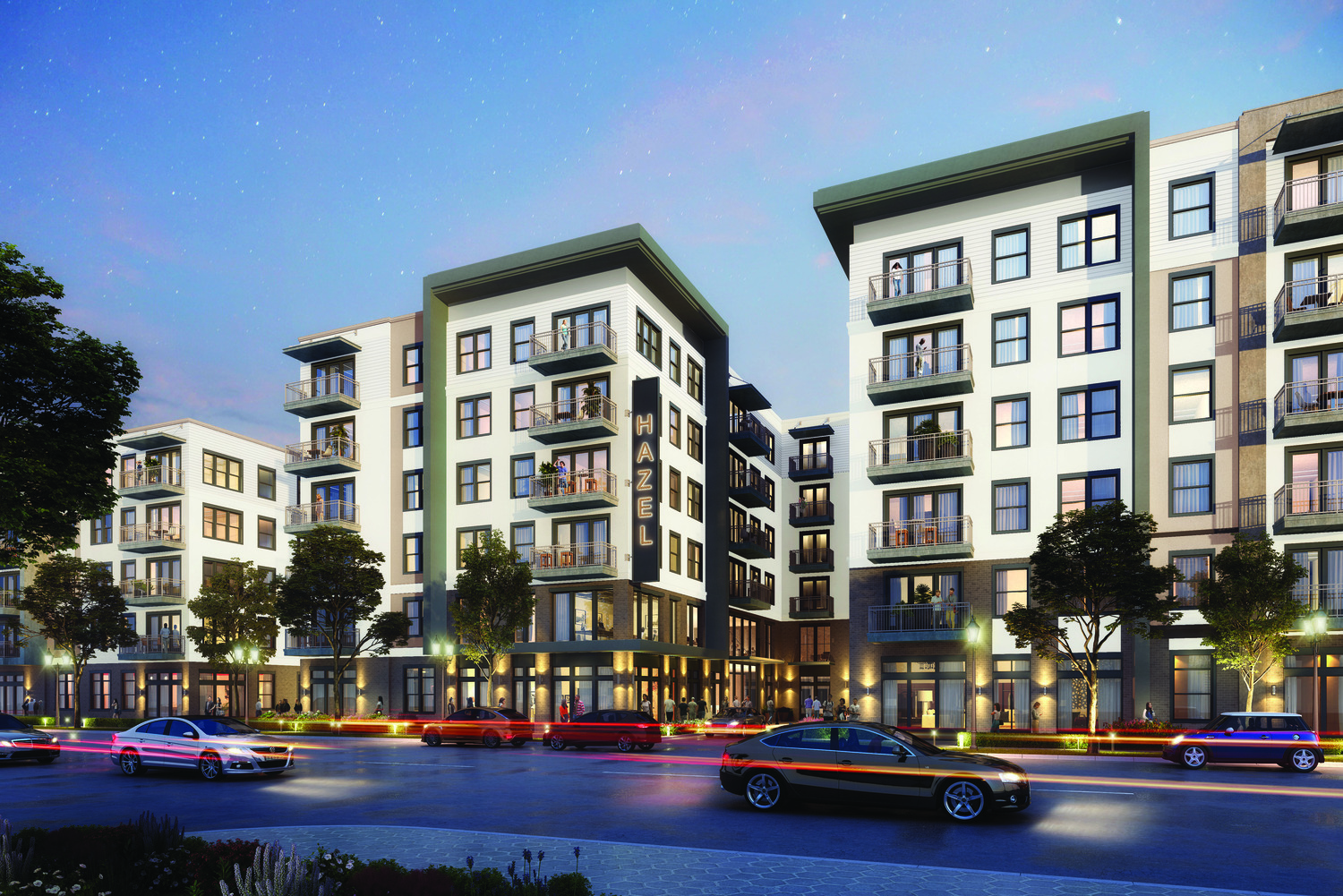 CBG builds Hazel Dallas Apartments, a 398-Unit, Six-Story Luxury Apartment with Precast Parking and Wellness Center in Dallas, TX