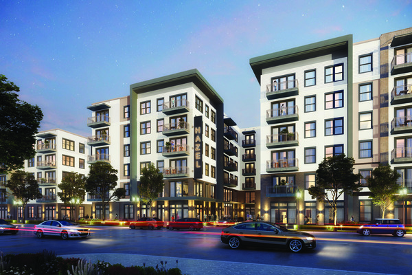 CBG builds Hazel Dallas Apartments, a 398-Unit, Six-Story Luxury Apartment with Precast Parking and Wellness Center in Dallas, TX - Image #1