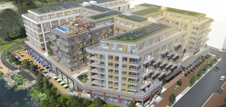 CBG Begins Rooftop Work on River Point Community of Southwest D.C. Development Press Release Image
