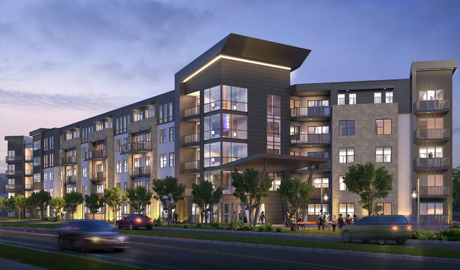 CBG builds Vitruvian West Phase II, a 366-Unit LEED® Silver Apartment Community with Parking Garage in Addison, TX