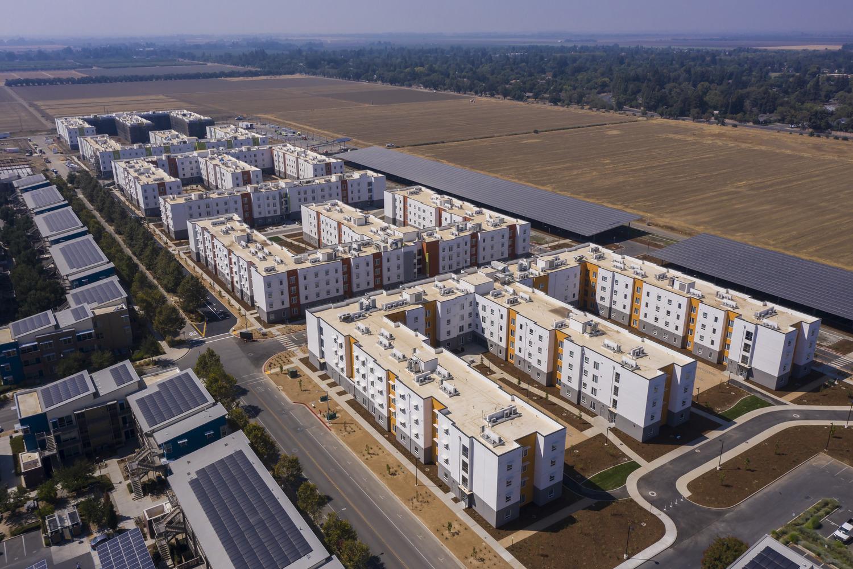 CBG builds UC Davis West Village, a 22-Acre, 3,311-Bed Student Housing Community Across Nine Residential Buildings in Davis, CA