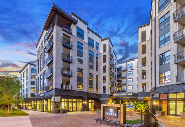 CBG builds Hazel SouthPark, a 203-Unit Luxury Community with Five-Story Parking Garage in Charlotte, NC - Image #1