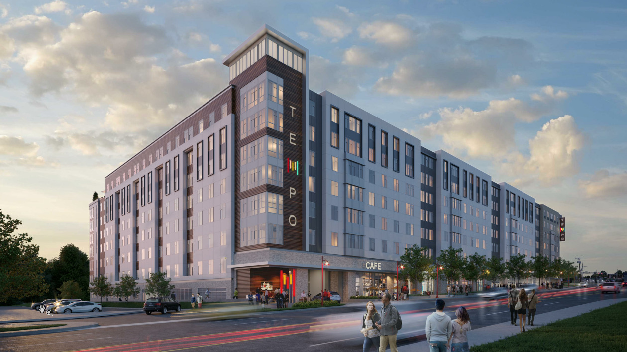 CBG builds Tempo, a 978-Bed, LEED® Silver Student Housing Community with Retail and Amenities in College Park, MD - Image #1