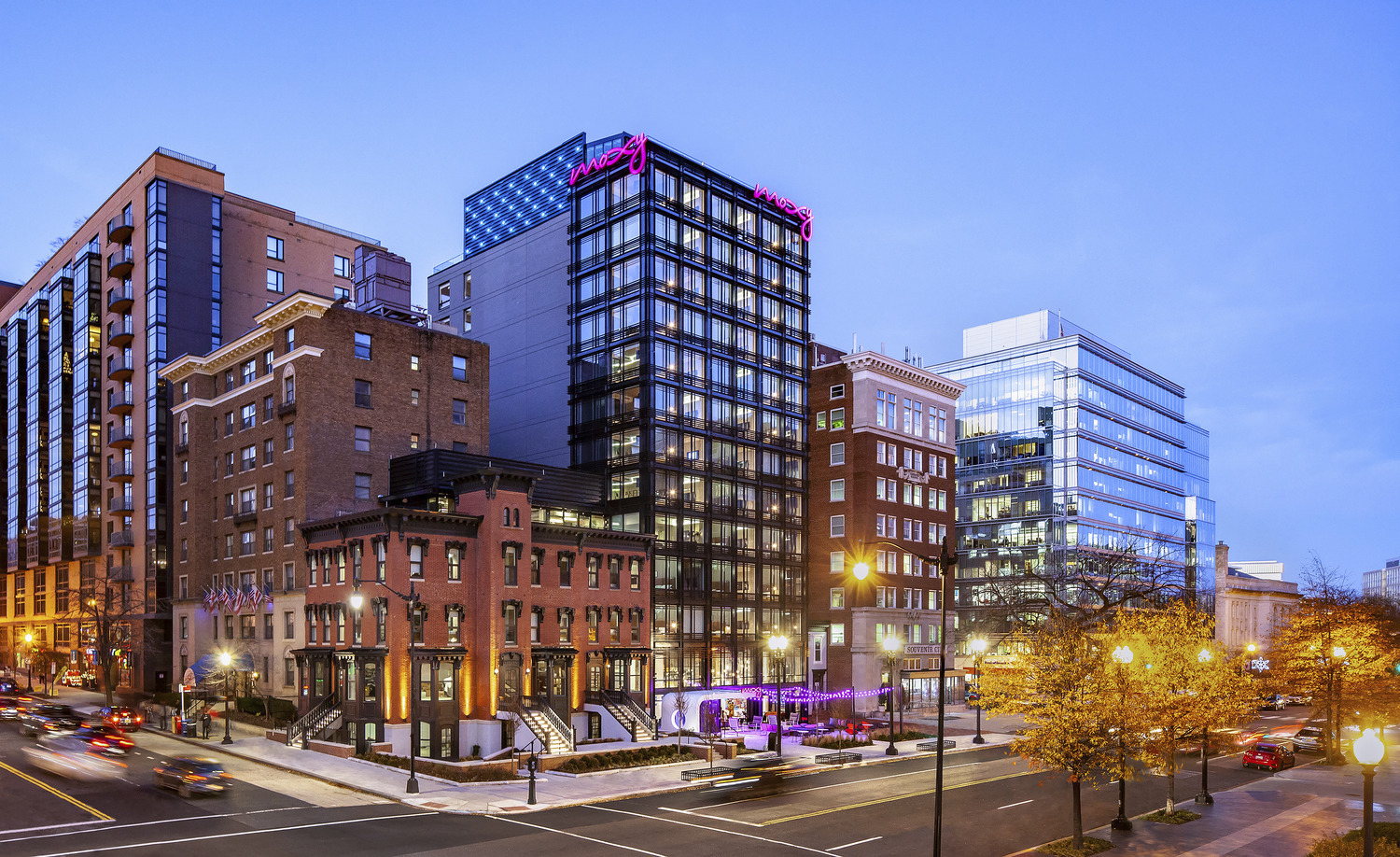 CBG builds Moxy Hotel, a 13-Story LEED® Silver Hotel with Retail in Washington, DC