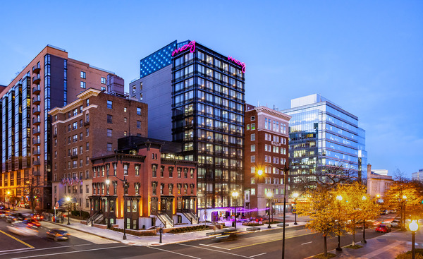 CBG builds Moxy Hotel, a 13-Story LEED® Silver Hotel with Retail in Washington, DC - Image #1