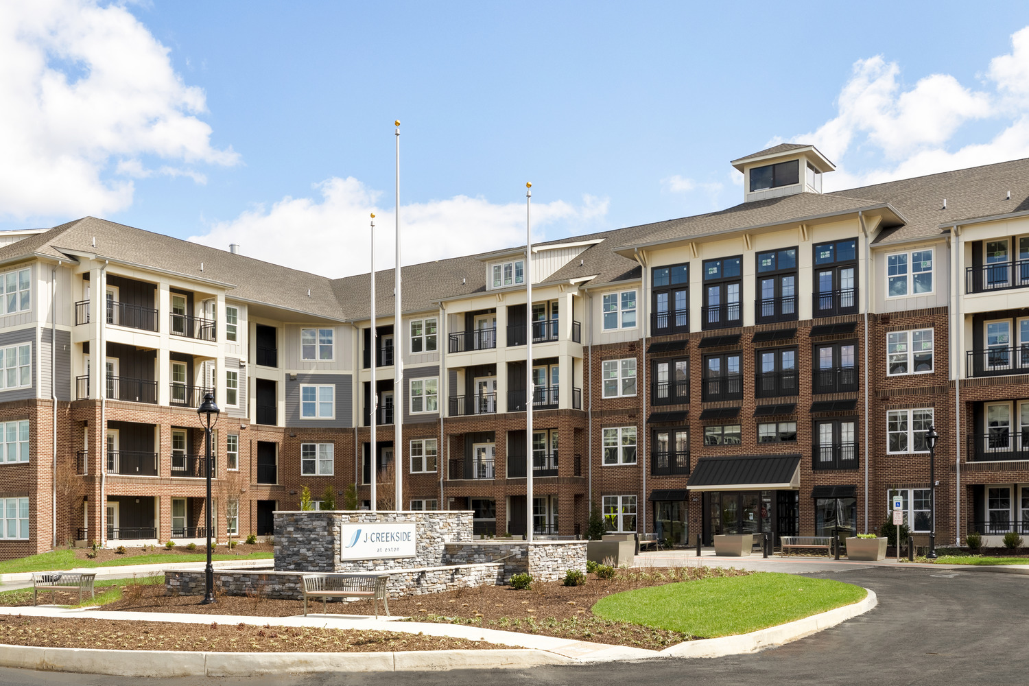 CBG builds J Creekside at Exton, a 291-Unit Luxury Community Across Four Buildings in Exton, PA