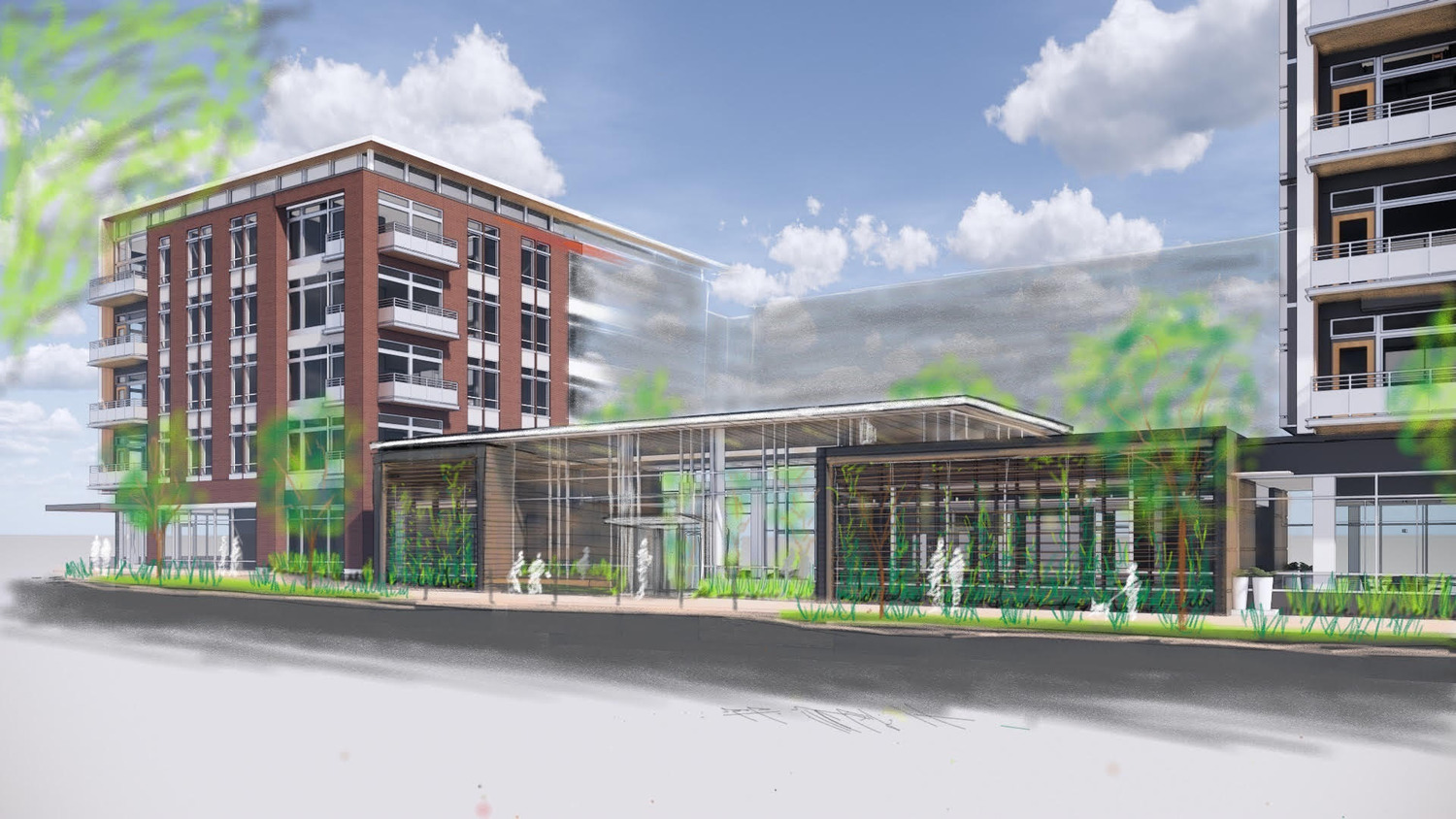 CBG builds Brentford at the Mile, a Seven-Story, 411-Unit Mixed-Use LEED® Community with Expansive Courtyard and Parking in McLean, VA - Image #1