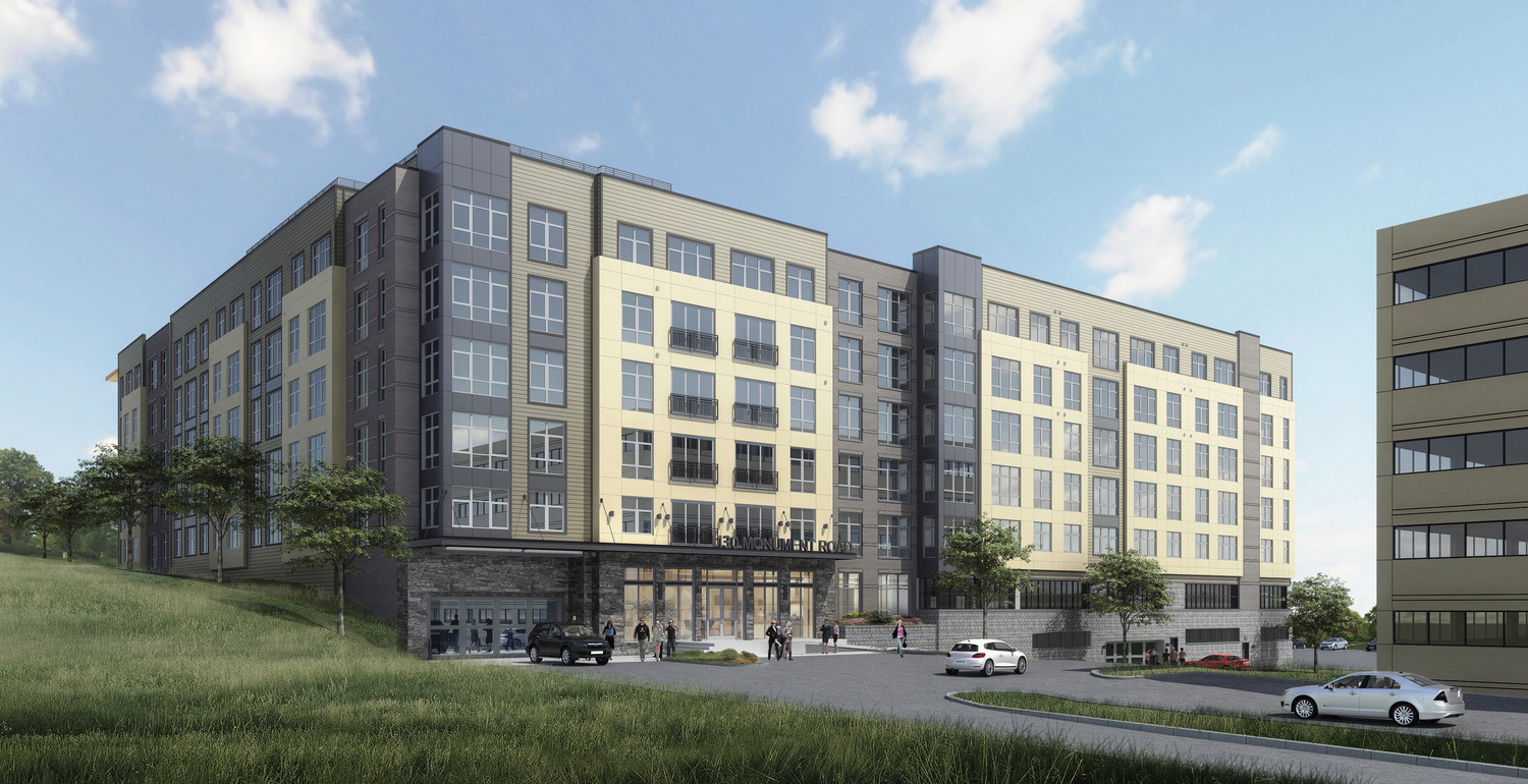 CBG builds 130 Monument, a Five-Story, 205-Unit Apartment Community with Pool and Rooftop Terrace in Bala Cynwyd, PA