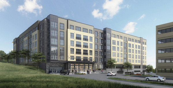 CBG builds 130 Monument, a Five-Story, 205-Unit Apartment Community with Pool and Rooftop Terrace in Bala Cynwyd, PA - Image #1