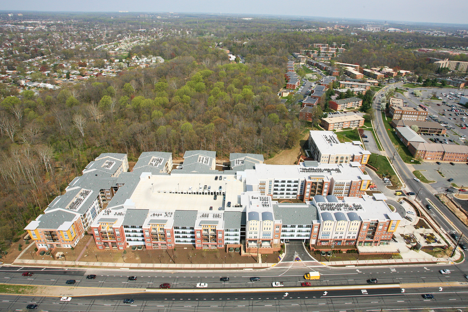 CBG builds Post Park, a 396 Multifamily Apartments Surrounding Precast Garage in Hyattsville, MD - Image #3