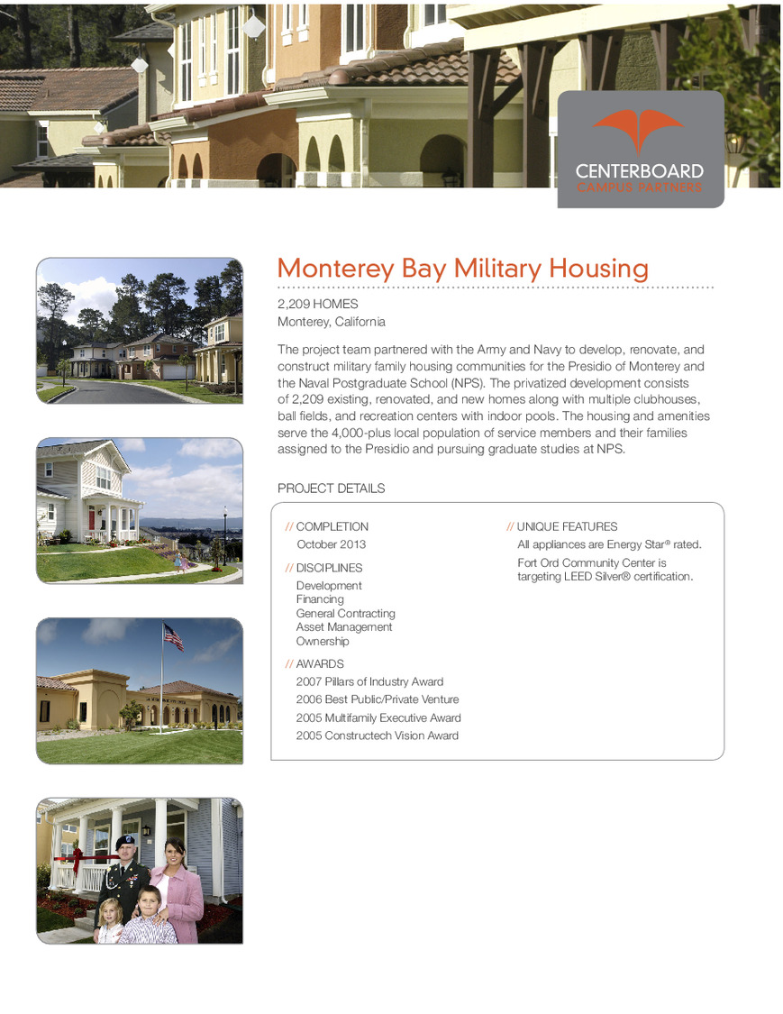 CBG builds Monterey Bay Military Housing, a 2,580 Homes for Army, Navy, and Marine Corps Service Members and Students in Monterey, CA - Image #2