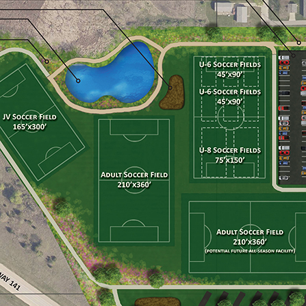 Image of Pattee Park Soccer Complex Expansion, City of Perry, Iowa