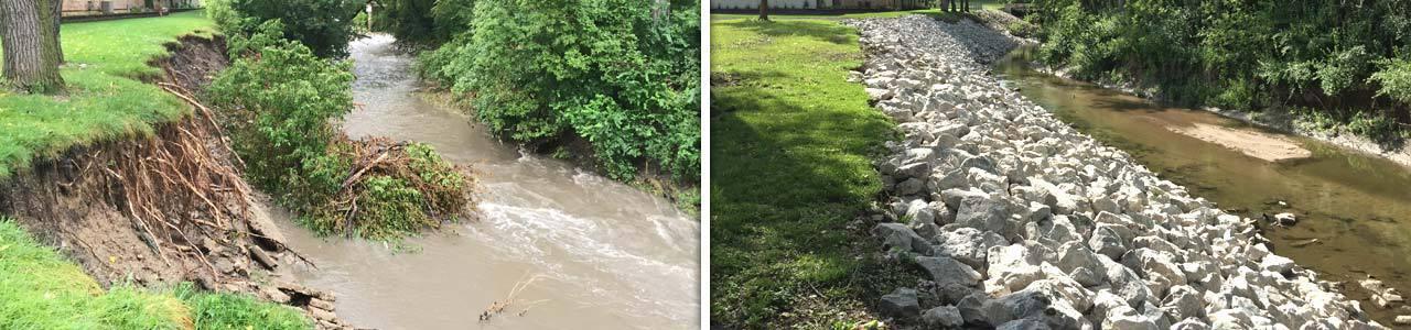 Jordan Creek Greenway Stabilization, City of West Des Moines, Iowa
