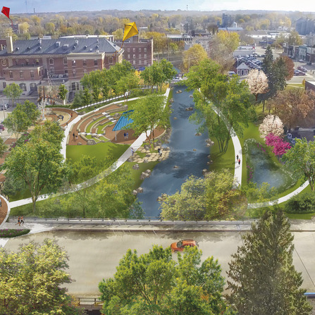 Image of Downtown Riverfront Improvements, City of Fergus Falls, Minnesota