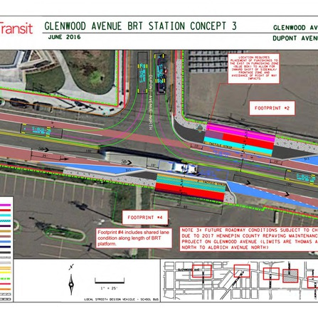 Image of Glenwood Avenue BRT Concepts Design, Metro Transit