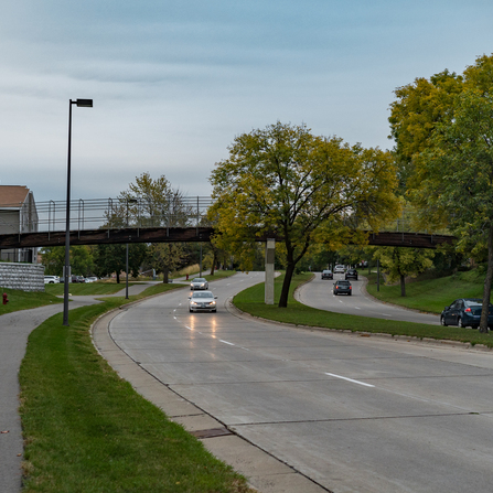 Image of Pedestrian Bridge Underpass and Crossing Connection, City of St. Louis Park, Minnesota