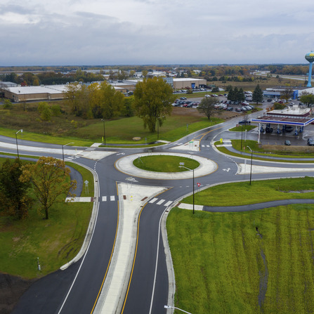 Image of CR 45 Roundabout, Sherburne County, Minnesota