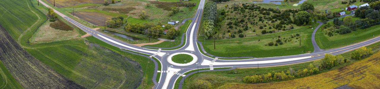 CSAH 33/CSAH 34 Roundabout, Carver County, Minnesota