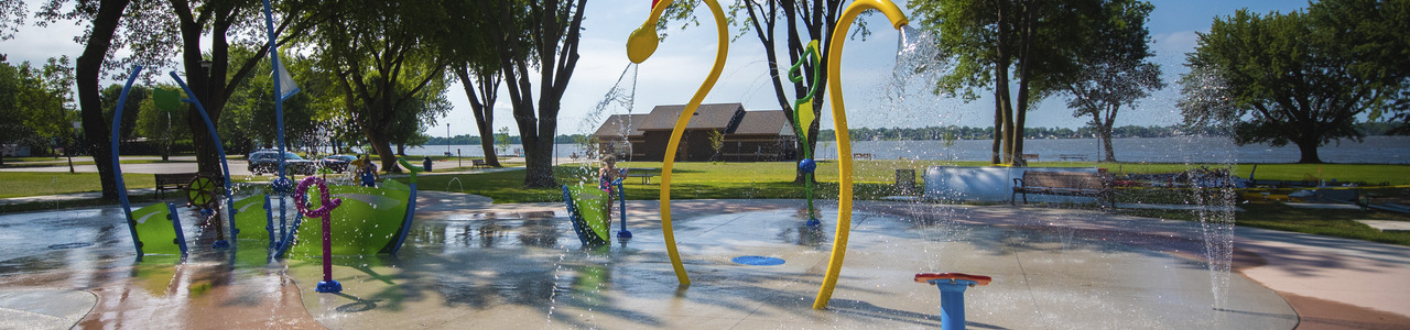 Centennial Park Splash Pad, City of Worthington, Minnesota
