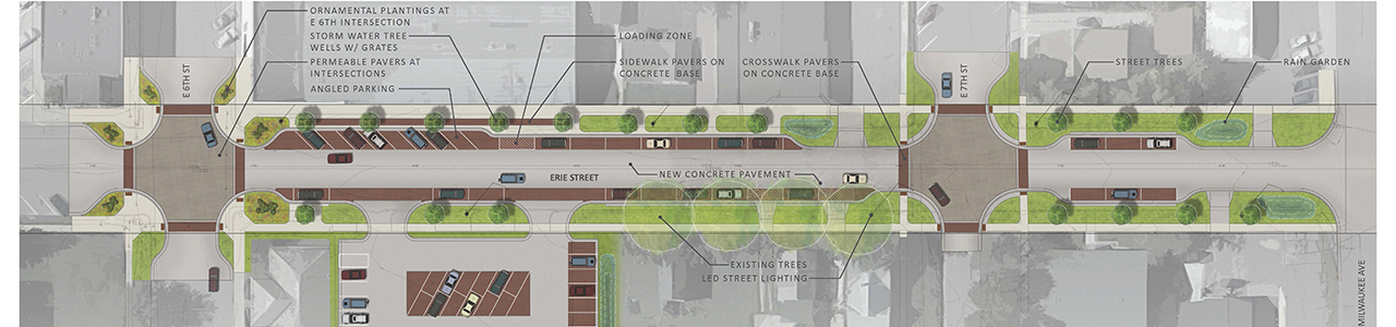 Erie Street Stormwater and Streetscape Improvements, City of Storm Lake, Iowa