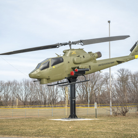 Image of Helicopter Support and Foundation Plan, Martin County Veterans Memorial, Minnesota
