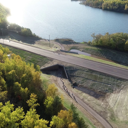 Image of Cuyuna Lakes State Trail Underpass of TH 6, City of Crosby, Minnesota