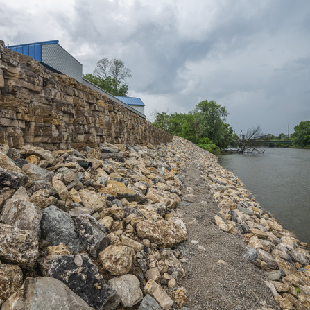 Image of Iowa River Streambank Stabilization, City of Iowa City, Iowa