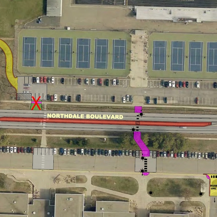 Project shot of Northdale Boulevard Traffic Analysis