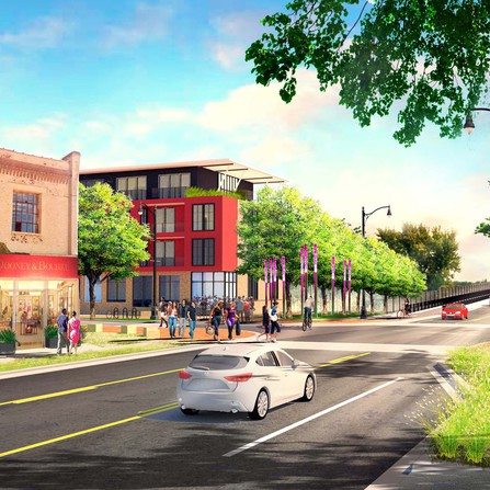 Project shot of Highway 14 Corridor Study