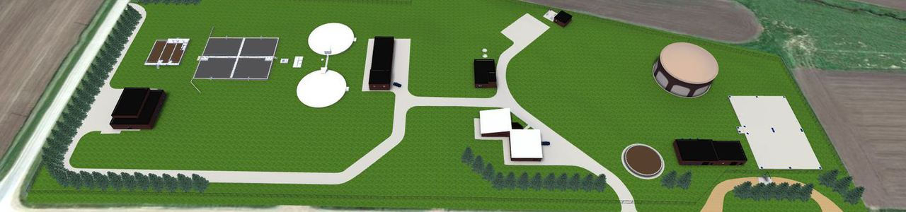 Wastewater Treatment Improvements 3D Model, City of Sioux Center, Iowa
