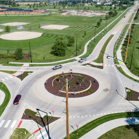 Image of Kirkwood Boulevard Roundabout, City of Cedar Rapids, Iowa
