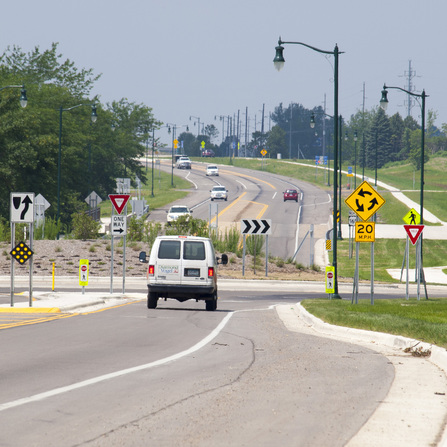 Image of TH 169 Reconstruction and Roundabouts in Blue Earth, Minnesota Department of Transportation District 7