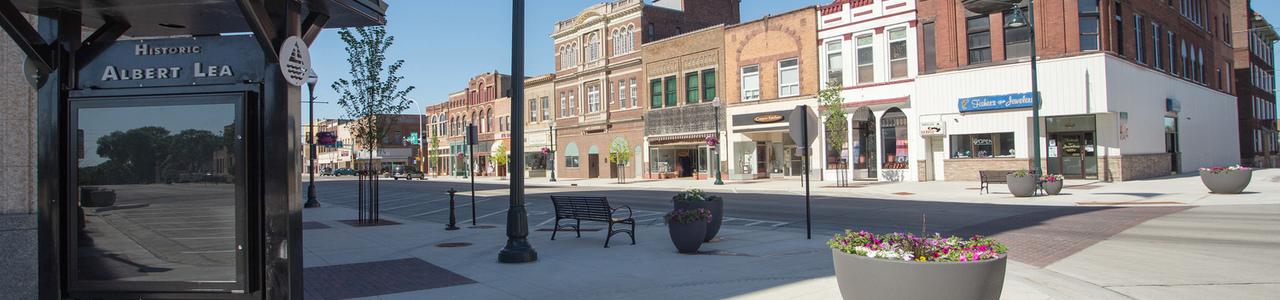 Broadway Avenue Streetscape, City of Albert Lea, Minnesota