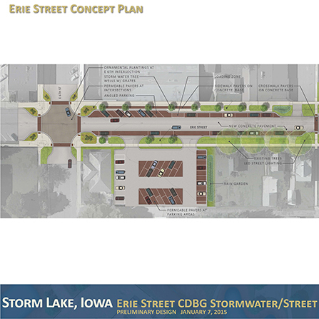 Image of Erie Street Stormwater and Streetscape Improvements, City of Storm Lake, Iowa