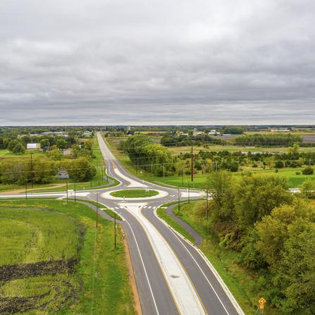Image of CSAH 33/CSAH 34 Roundabout, Carver County, Minnesota
